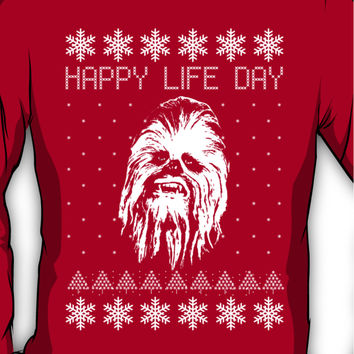 Happy Life Day Shirt / Sweater / Coffee Mug / Pillow - Star Wars Holid