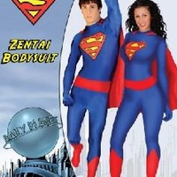DC Comics Superman Blue Adult Unisex Zentai Bodysuit with Red Cape - Superman - | TV Store Online