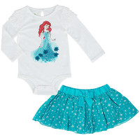 Disney Girls 2 Piece Bodysuit and Skirt Set