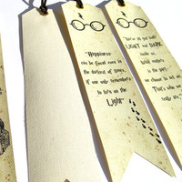 Harry Potter Bookmarks, 4 to choose from, Harry Potter quotes, Unique bookmark Harry Potter Handmade, Bookmark canvas print, Marauders Map
