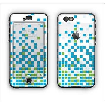 The Green and Blue Mosaic Pattern Apple iPhone 6 LifeProof Nuud Case Skin Set