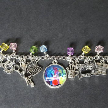 Crafting themed charm bracelet