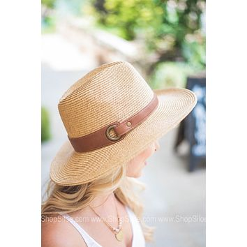 Versatile Brown Belt Straw Hat