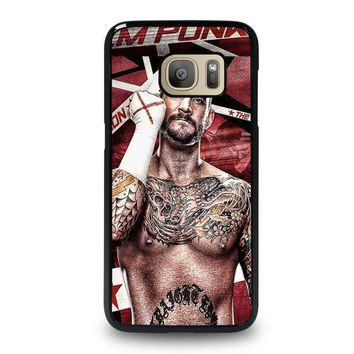 cm punk gloves samsung galaxy s7 case cover  number 1