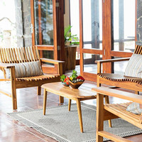Outdoor wood furniture - Arm Chair - Garden Chair - patio wood furniture - deck furniture - Teak chair - solid tropical hardwood furniture