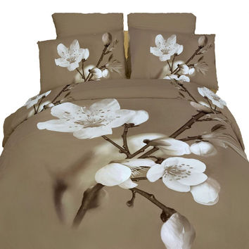 King Size Duvet Cover Sheets Set, Delicato