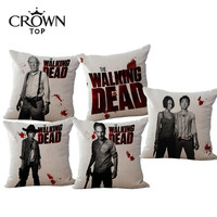 Western Style US drama The Walking Dead Season Cotton linen decorative sofa pillow cushion cover car cushion case