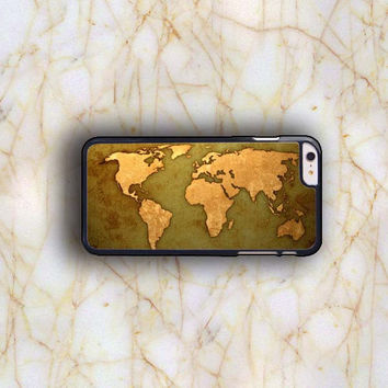 Dream colorful Dream colorful World Map Plastic Case Cover for Apple iPhone 6 Plus 4 4s 5 5s 5c 6