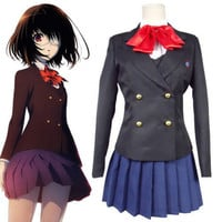 Another Misaki Mei Anime dress Cosplay Costume School Uniform S-XL