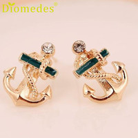Diomedes Trendy Alloy Brincos Stud Earrings Women Aretes