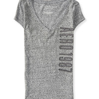 Aeropostale  Aero 1987 Shine V-Neck Graphic T