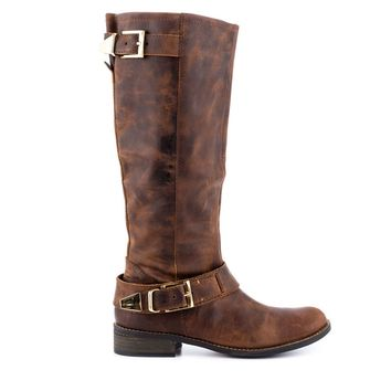 Steve Madden Suspekt - Brown Leather Riding Boot