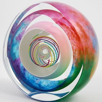 Candy Multi Paperweight by Paul D Harrie: Art Glass Paperweight | Artful Home