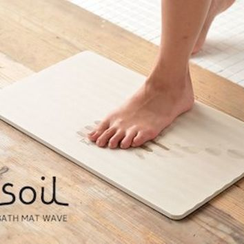 "Bath mat soil made from diatomaceous earth ""BATH MAT WAVE"""