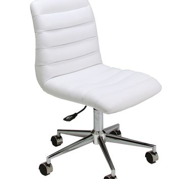 Hawthorne Office Chair in chrome/aluminum upholstered in Pu Ivory