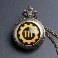 Vault 111 Vintage Fashion Fallout 4 Theme Quartz Pocket Watch