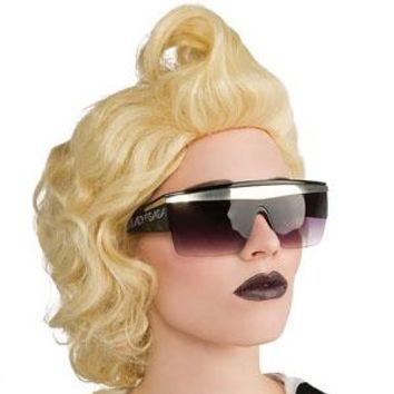 Lady Gaga Men's Lady Gaga Retro Glasses Costume Accessory Black