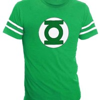 Sheldon Green Lantern T-Shirt with Striped Sleeves - TV Store Online