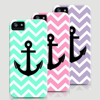 Chevron Anchor Color Cases by RexLambo | Society6