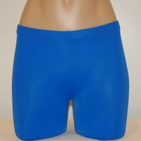 Royal Blue SOLID - WOMEN'S/GIRLS-Spandex Compression Shorts
