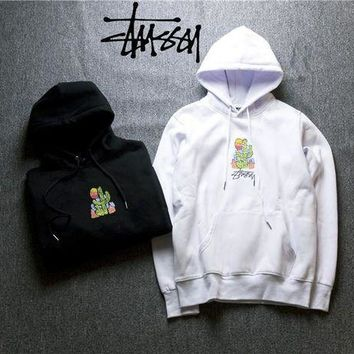 Stussy Embroidered cactus Hoodies Sweater M--XXL