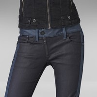 G-Star RAW | Women | Colour-jeans | Lynn Zip Skinny , Comfort Shalt Twill
