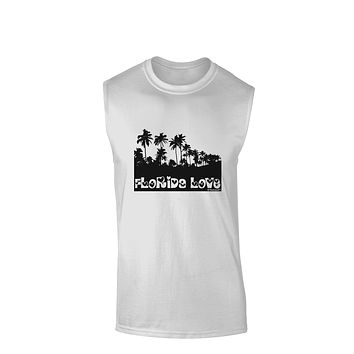 Florida Love - Palm Trees Cutout Design Muscle Shirt  by TooLoud