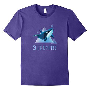 Set Them Free Orca Whale Animal Rights T-Shirt
