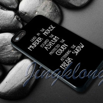 American Horror Story Four Seasons Cover - iPhone 4 4S iPhone 5 5S 5C and Samsung Galaxy S3 S4 Case