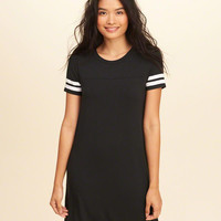 Girls Stripe Sleeve T-Shirt Dress | Girls Dresses & Rompers | HollisterCo.com