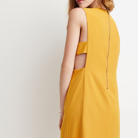 Laddered-Cutout Shift Dress