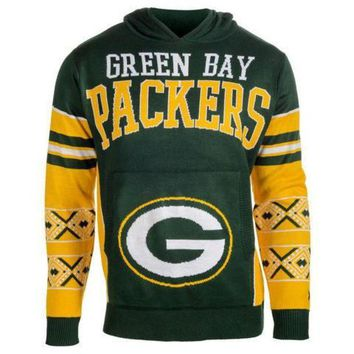 ICIKU3N Green Bay Packers Official NFL 'Ugly Sweater' - Choose Your Style