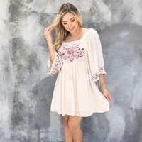 Love Letters Embroider Dress