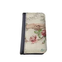 Floral iPhone 5C wallet case MADE IN USA - different designs flip case (Holding Hands)