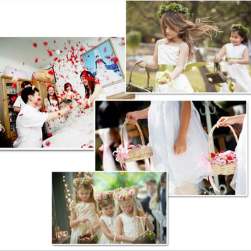 3000 pcs/lot Rose Petals girls basket wedding decorations party decoration supplies  bridal bouquet  Flower Petal