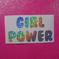 Girl power feminist sticker vinyl decal- feminist bumper sticker