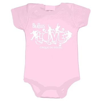 The Beatles Love Logo - Infant Pink Onesuit