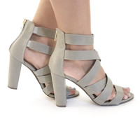 Stone Cold Heels In Grey