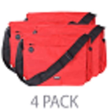 "(4-Pack) Cocoon Soho 17 Laptop Messenger Bag w/Grid-It System - Fits 17"" (Racing Red)"