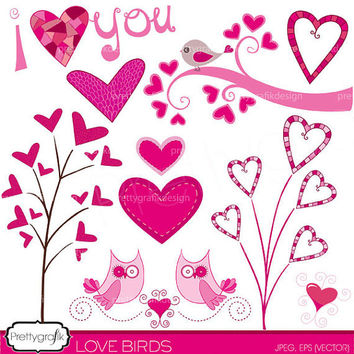 valentine hearts clipart commercial use, vector graphics, digital clip art, digital images, instant download - PGCLPK446