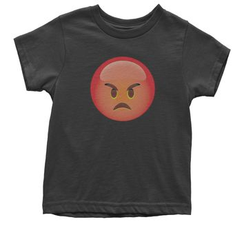 Color Emoticon - Red Angry Face Smiley Youth T-shirt