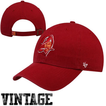 47 Brand Tampa Bay Buccaneers Cleanup Throwback Adjustable Hat - Red