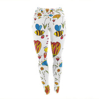 "Alisa Drukman ""Bees"" Multicolor Yoga Leggings"
