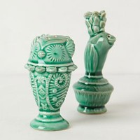 Losin Salt & Pepper Shakers by Anthropologie Green Set Of 2 House & Home