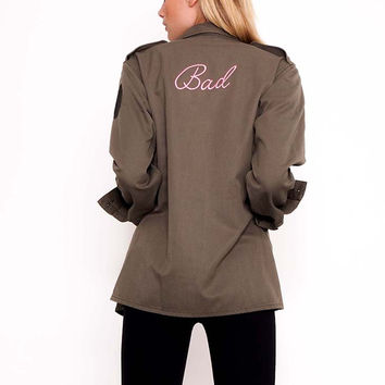 Bad Embroidered Army Jacket