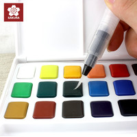Sakura 18 colours watercolour paint box, with a water brush, solid watercolor painting outdoor, lightweight , perfect gift