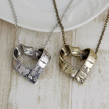 Creative Love Heart Necklaces Fashion Women Jewelry Shellhard Hiphop Long Chain Necklace & Pendants  Punk Men Jewellery Gift