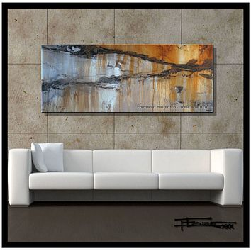 Large Painting, Modern Abstract Canvas Wall art, Limited Edition ENRAPTURE II by ELOISExxx