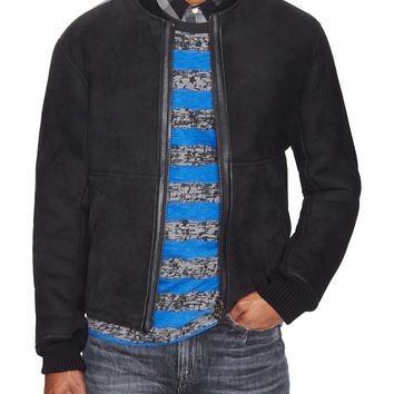 Levi's Made & Crafted Men's Cotton Bomber Jacket - Black -