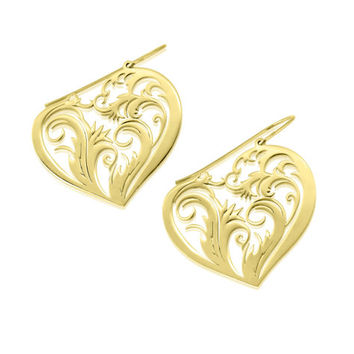 Heart Earrings -Gold plated earrings, special gifts